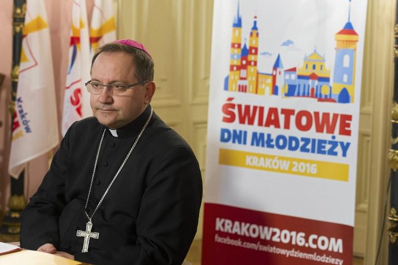 Sekretarz generalny komitetu organizacyjnego ŚDM Kraków 2016 bp Damian Muskus /Łukasz Krajewski /