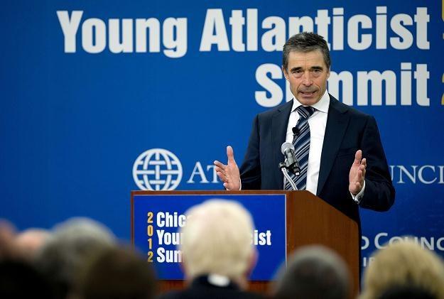 Sekretarz generalny NATO Anders Fogh Rasmussen /AFP