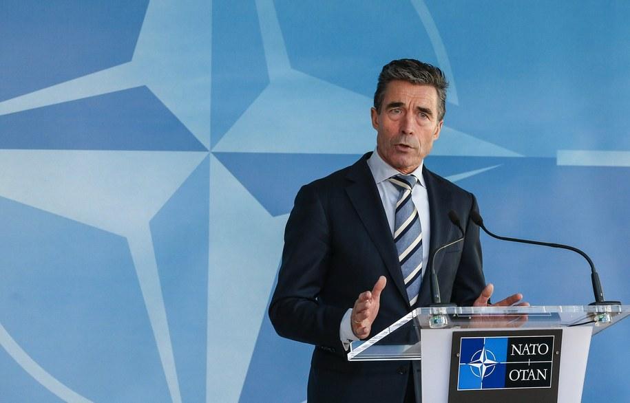 Sekretarz generalny NATO Anders Fogh Rasmussen /JULIEN WARNAND /PAP/EPA