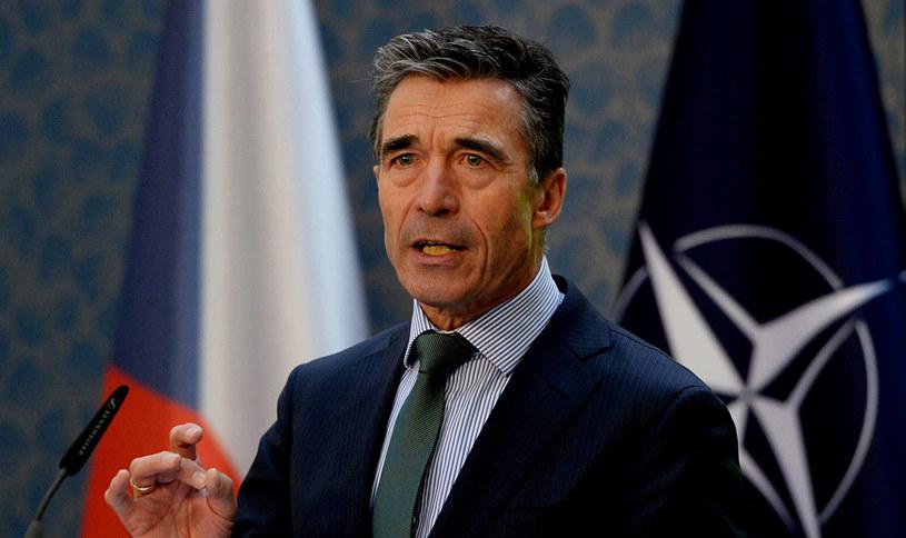 Sekretarz generalny NATO Anders Fogh Rasmussen. /PAP/EPA