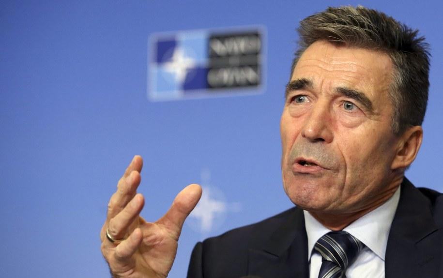 Sekretarz generalny NATO Anders Fogh Rasmussen. /OLIVIER HOSLET (PAP/EPA) /PAP/EPA