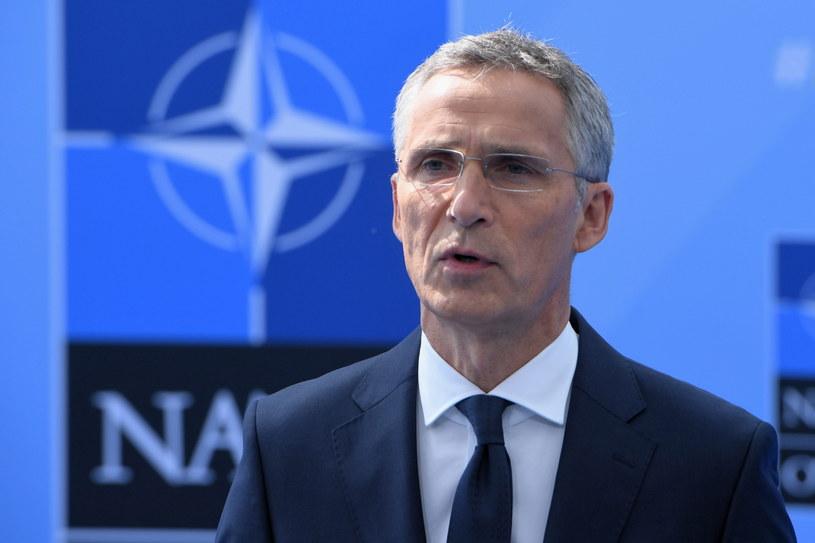 Sekretarz generalny NATO Jens Stoltenberg w Brukseli /Radek Pietruszka /PAP