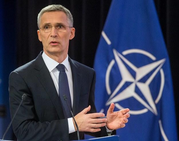 Sekretarz generalny NATO Jens Stoltenberg /STEPHANIE LECOCQ  /PAP/EPA