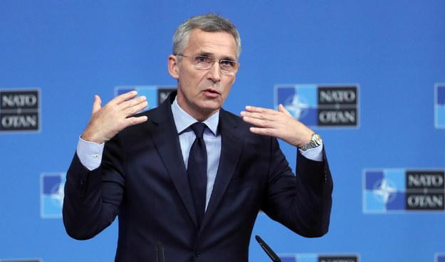 Sekretarz generalny NATO Jens Stoltenberg /OLIVIER HOSLET /PAP/EPA
