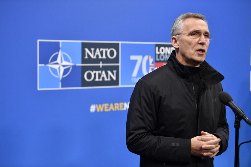Sekretarz generalny NATO Jens Stoltenberg /NEIL HALL /PAP/EPA