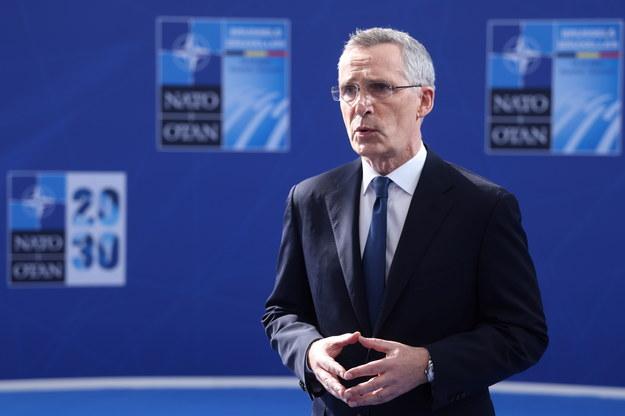 Sekretarz generalny NATO Jens Stoltenberg /KENZO TRIBOUILLARD /PAP/EPA