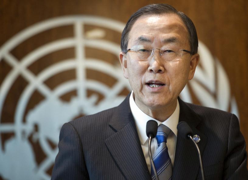Sekretarz generalny ONZ Ban Ki Mun /AFP