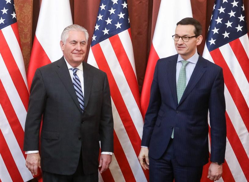 Sekretarz stanu Rex Tillerson podczas wizyty w Warszawie /Paweł Supernak /PAP