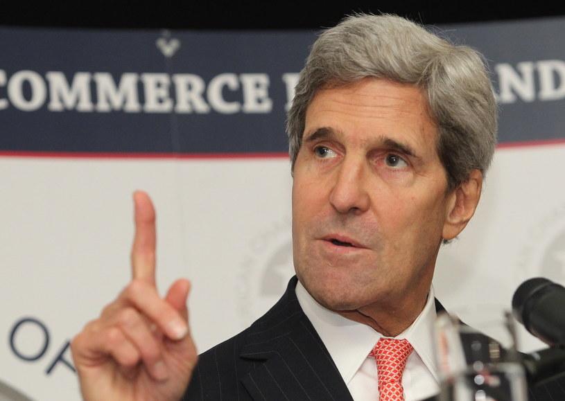 Sekretarz stanu USA John Kerry /Radek Pietruszka /PAP