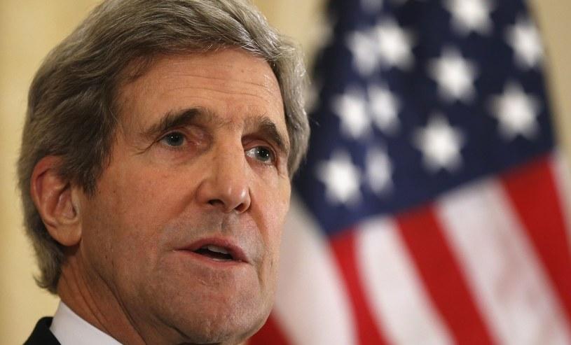 Sekretarz stanu USA John Kerry. /AFP