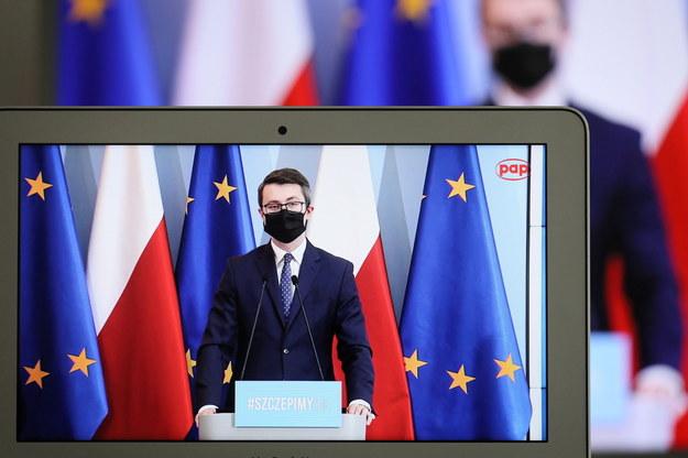 Sekretarz stanu w KPRM, rzecznik prasowy rządu Piotr Müller /Paweł Supernak /PAP