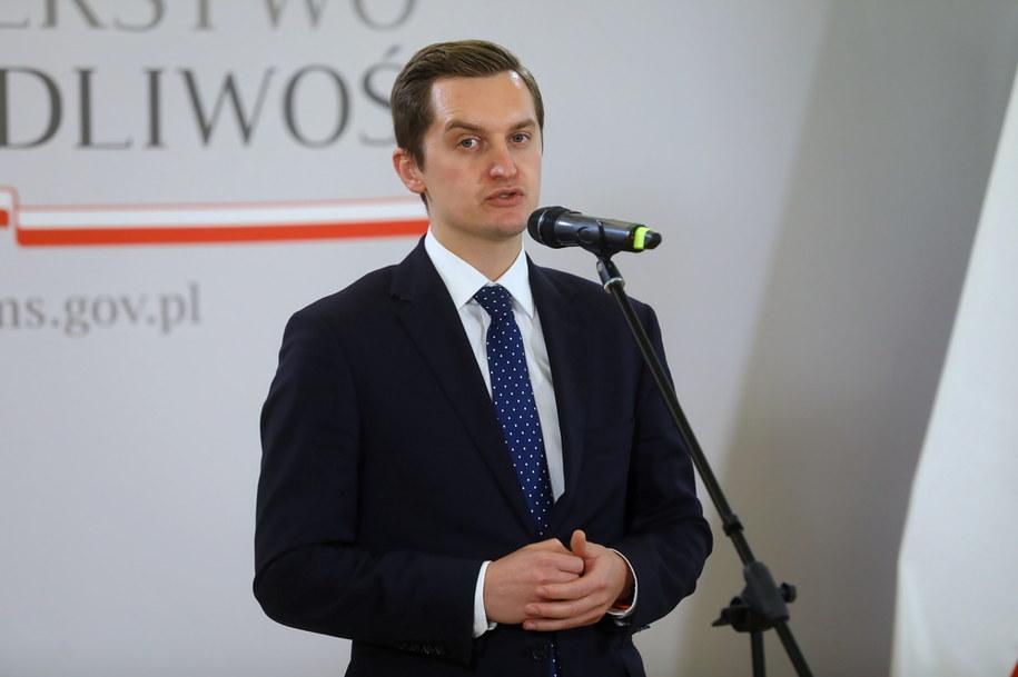 Sekretarz stanu w ministerstwie sprawiedliwości Sebastian Kaleta /Rafał Guz /PAP