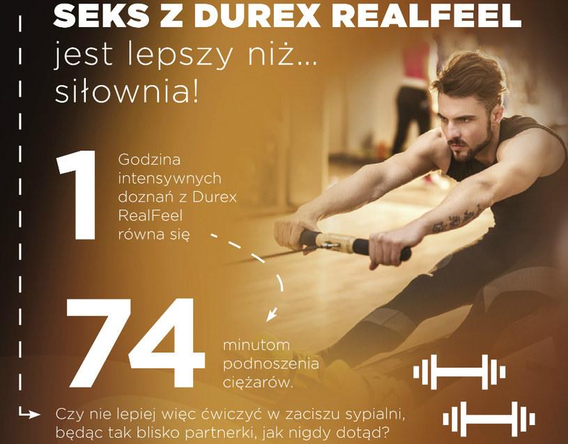 Seks z Durex RealFeel jest lepszy niż siłownia! /materiały prasowe