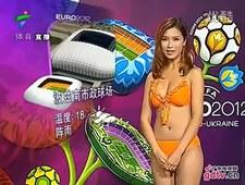Seksowne Chinki zapowiadają pogodę na Euro 2012