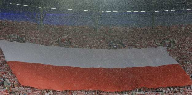 """""""Sektorówka"""" na meczu Polska - Czechy podczas Euro 2012 /AFP"""