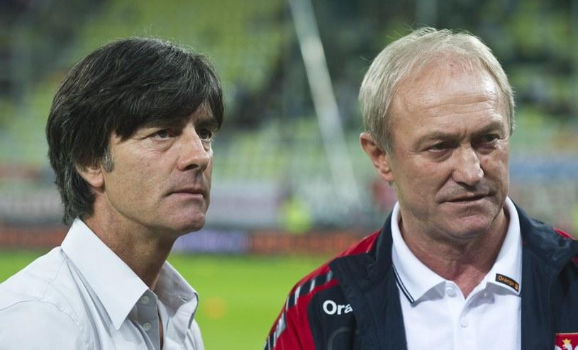 Selekcjoner Niemców Joachim Loew i Franciszek Smuda. /AFP