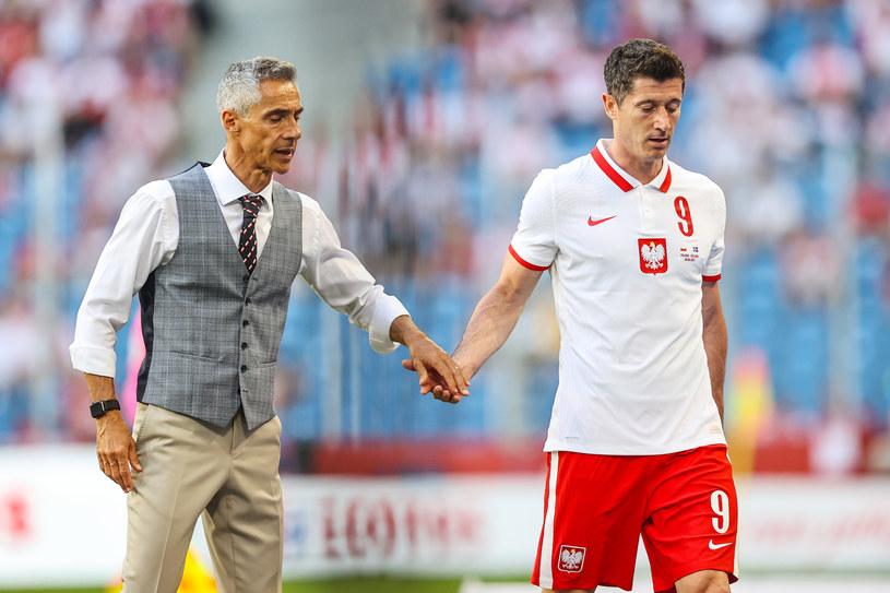 Selekcjoner Paulo Sousa (po lewej) /Łukasz Grochala /Newspix