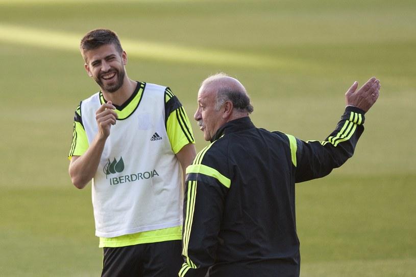 Selekcjoner reprezentacji Hiszpanii Vicente del Bosque podczas treningu /AFP