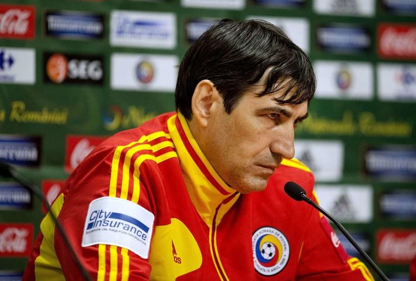 Selekcjoner reprezentacji Rumunii Victor Piturca /AFP