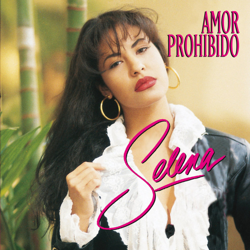 "Selena Quintanilla na okładce płyty ""Amor Prohibido"" /"
