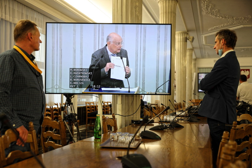 Senator Marek Borowski podczas posiedzenia Senatu / Leszek Szymański    /PAP