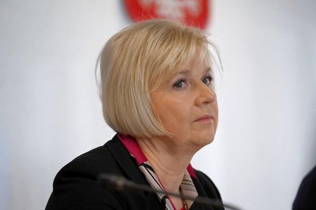 Senator niezależna Lidia Staroń podczas wspólnego posiedzenia senackich komisji /Mateusz Marek /PAP