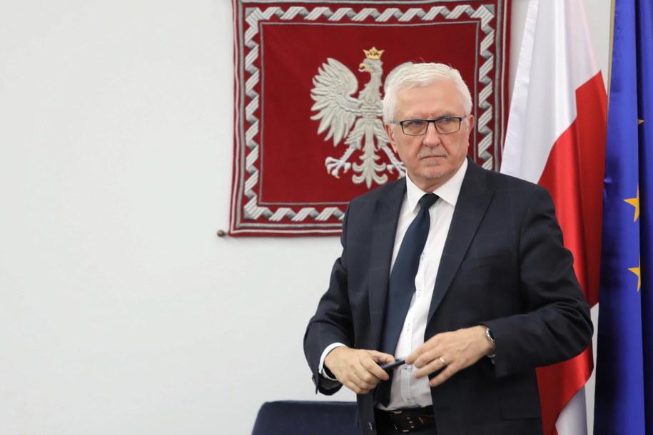 Senator RP Wadim Tyszkiewicz podczas posiedzenia Senatu / Tomasz Gzell    /PAP/EPA