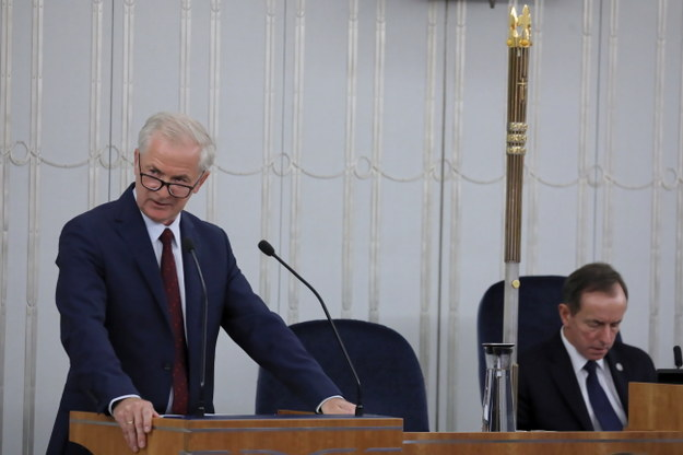 Senator Sławomir Rybicki i marszałek Senatu Tomasz Grodzki / Tomasz Gzell    /PAP