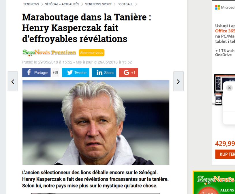 Senegalczycy piszą o Henryku Kasperczaku /