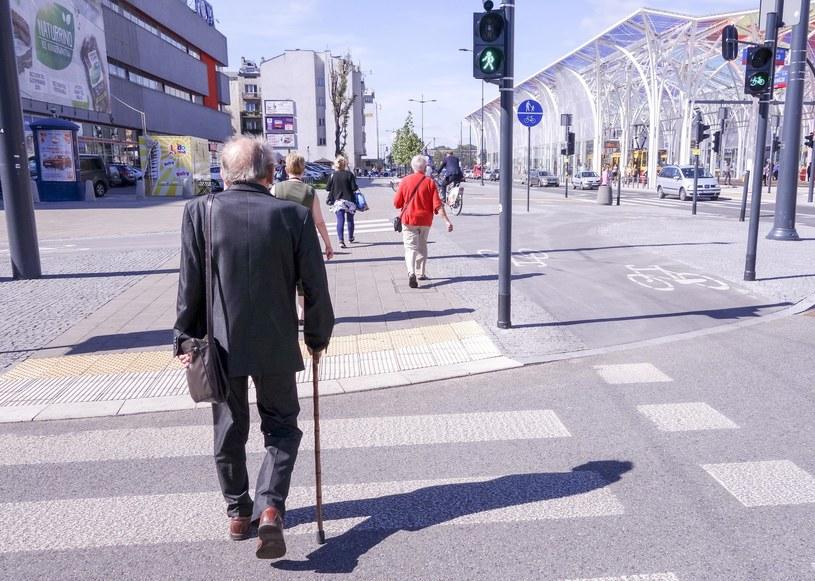 Senior na drodze nie ma łatwego życia /Piotr Kamionka /Reporter