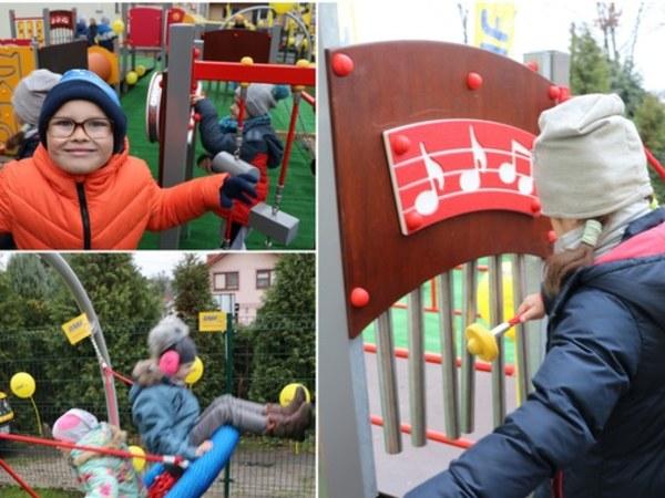 Sensoryczny plac zabaw dla przedszkolaków z Wieliczki