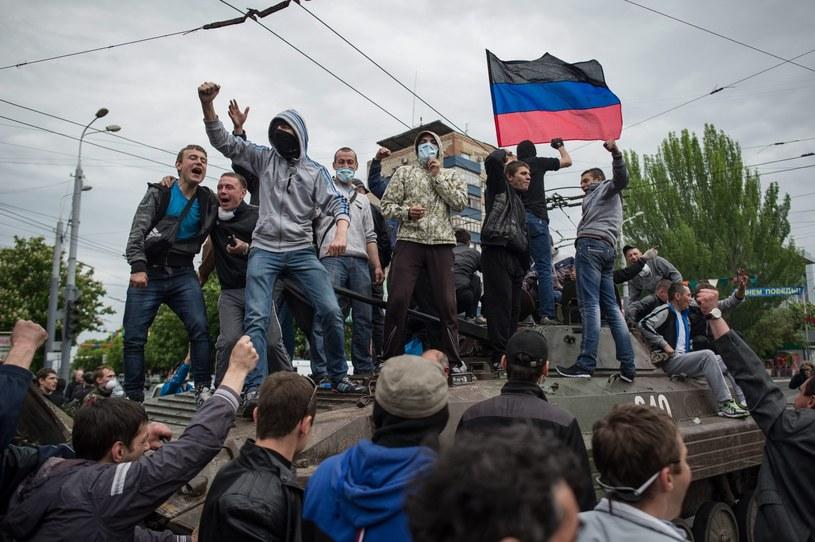 Separatyści na wschodzie Ukrainy zorganizowali w niedzielę referenda niepodległościowe. /PAP/EPA