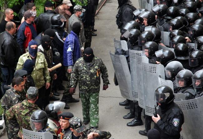 Separatyści nie natrafili na opór milicji /ZURAB KURTSIKIDZE /PAP/EPA