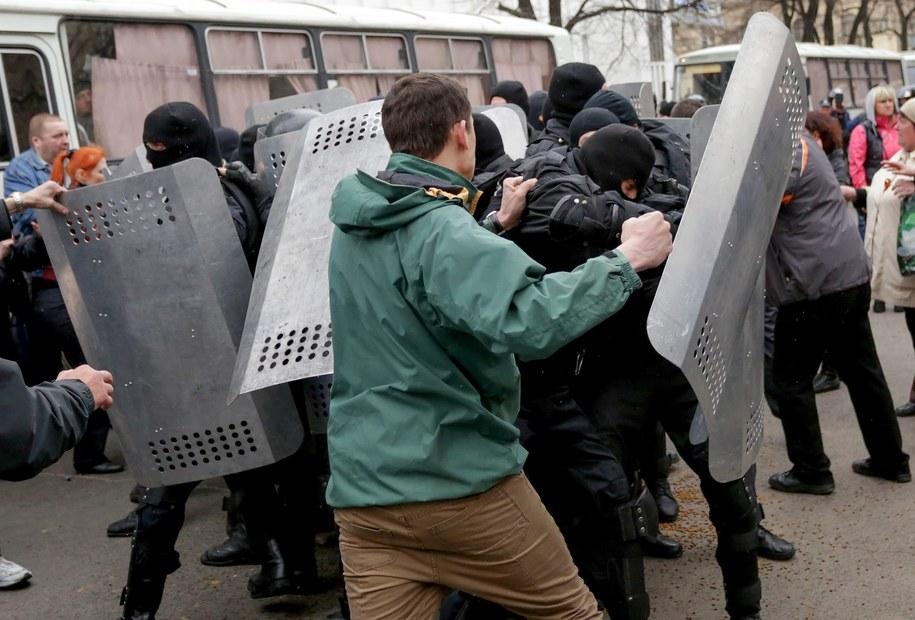 Separatyści w Charkowie /ANASTASIA VLASOVA /PAP/EPA