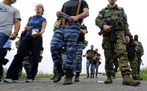 Separatyści w rejonie Doniecka /ROBERT GHEMENT /PAP/EPA