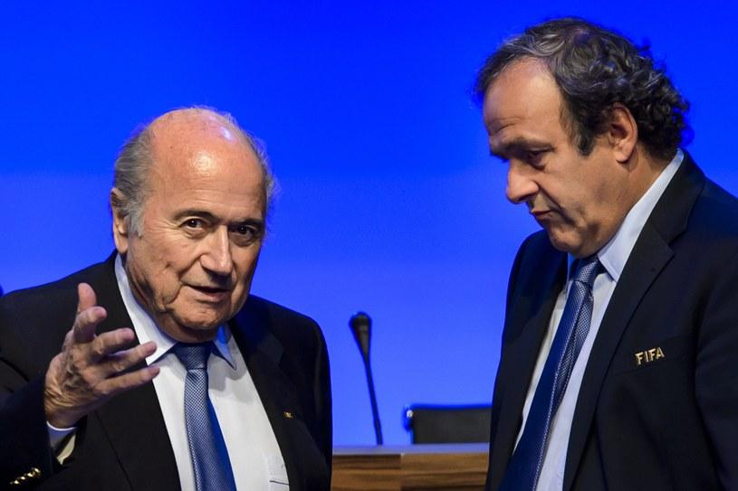 Sepp Blatter i Michel Platini /AFP