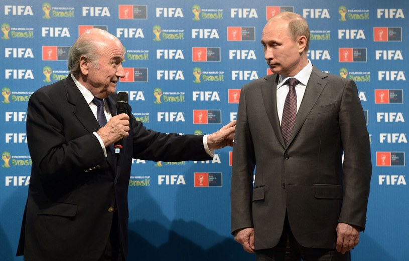 Sepp Blatter i prezydent Rosji Władimir Putin /AFP