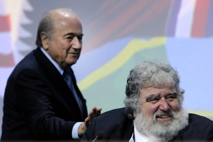 Sepp Blatter (z lewej) i Charlez Blazer /AFP