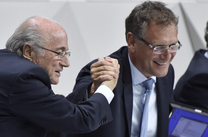 Sepp Blatter (z lewej) i Jerome Valcke /AFP