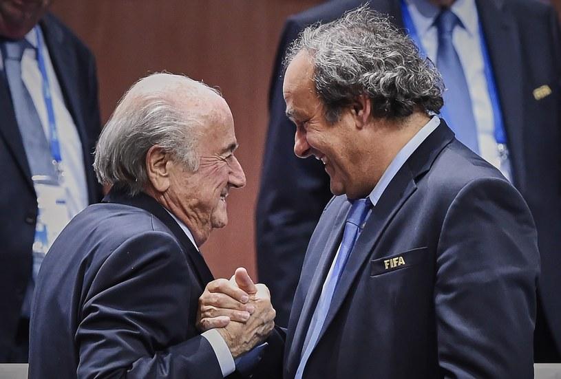 Sepp Blatter (z lewej) i Michel Platini /AFP