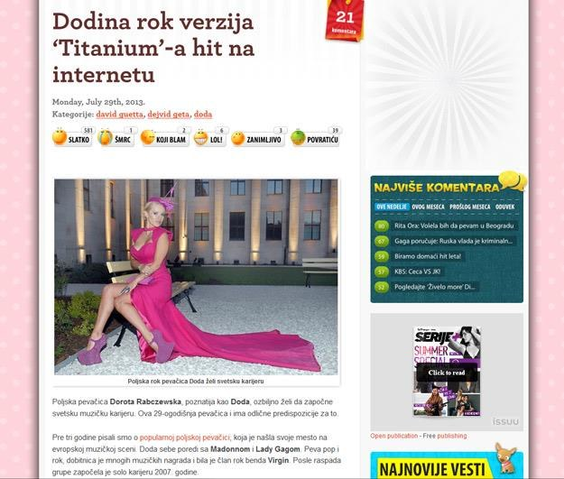 Serbowie o Dodzie. Doczekaliśmy się międzynarodowej gwiazdy? /