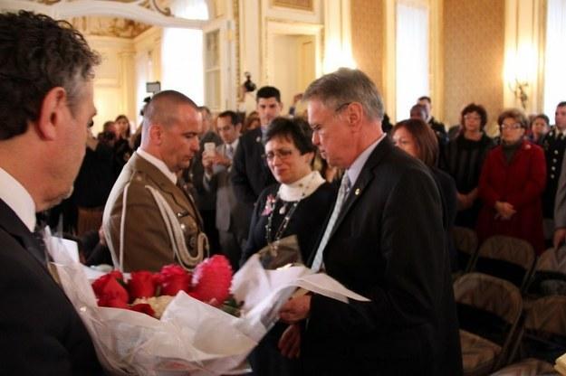 Serdeczne powitanie z rodzicami Michaela /Paweł Żuchowski /RMF