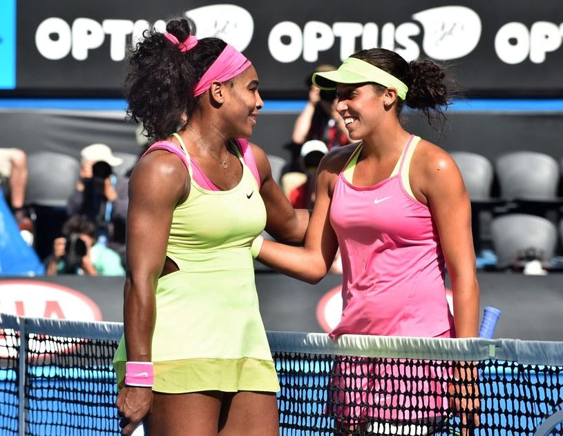 Serena Williams i Madison Keys po meczu /AFP
