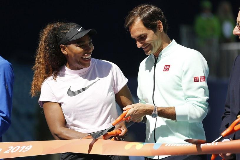 Serena Williams i Roger Federer /AFP