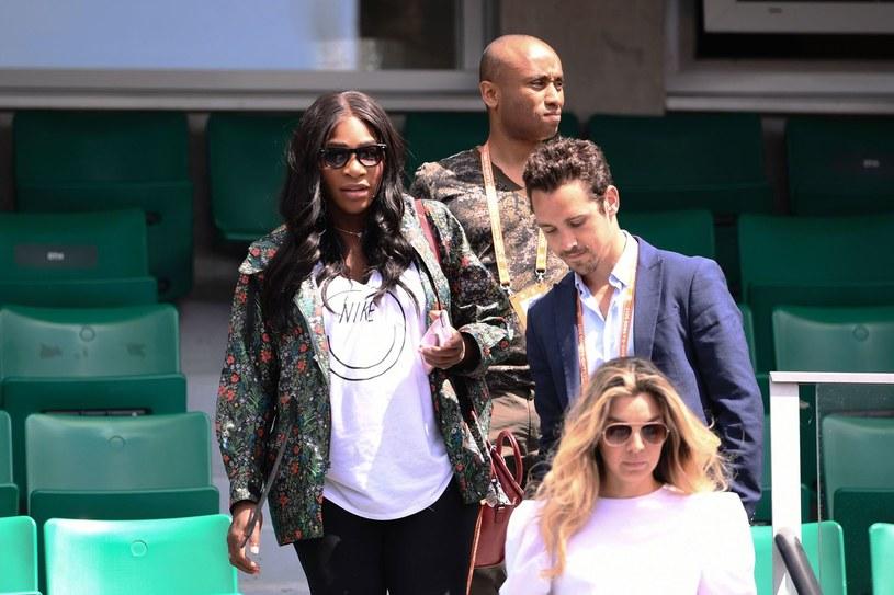 Serena Williams na trybunach podczas turnieju Rolanda Garrosa /AFP