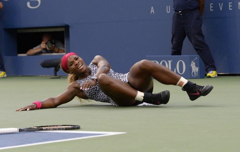 Serena Williams płacze ze szczęścia po finale US Open /AFP