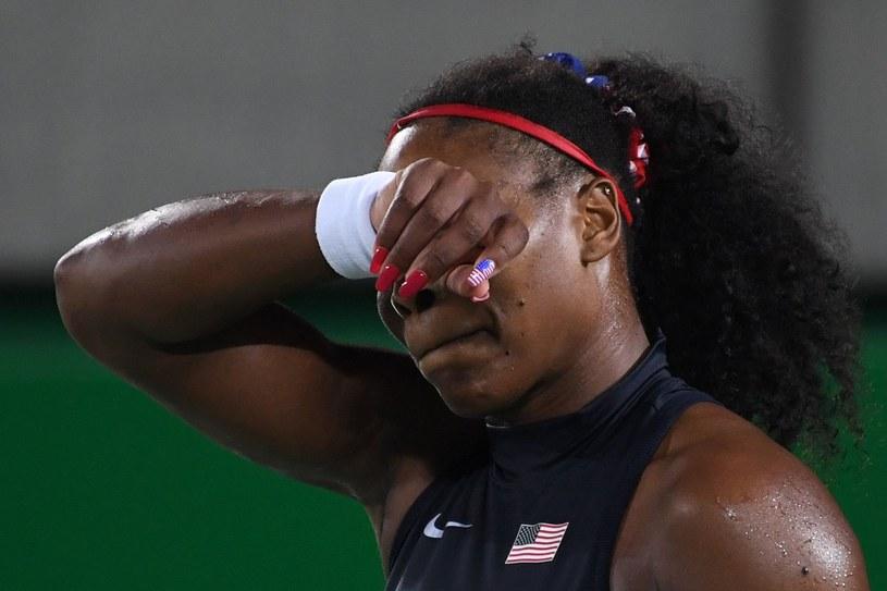 Serena Williams po porażce w Rio de Janeiro /AFP
