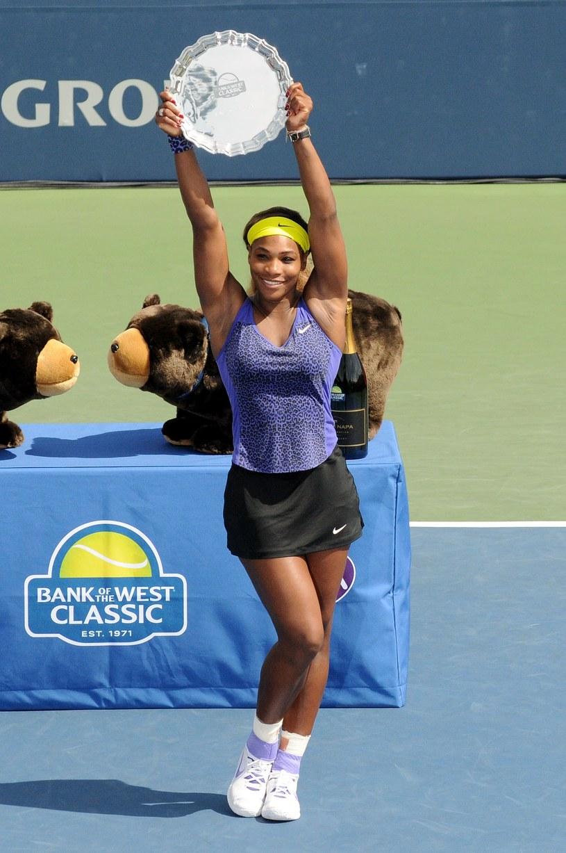 Serena Williams po wygraniu turnieju w Stanford /AFP