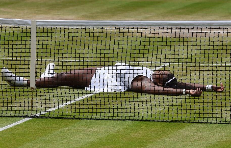 Serena Williams po wygranym meczu z Kerber /GERRY PENNY /PAP/EPA