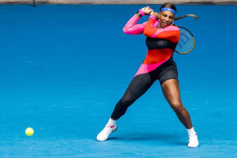 Serena Williams podczas pierwszego starcia na Australian Open 2021 /Icon Sportswire /Getty Images